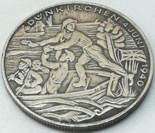 RÉPLICA Medalla 1940. Batalla De Dunquerque. Flandes Bélgica Francia. Alemania. II Guerra Mundial. Karl Goetz - Duitsland