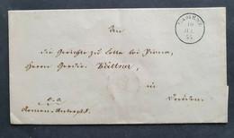 Sachsen 1855, Markenloser Faltbrief CAMENZ Gelaufen Dresden - Saxony