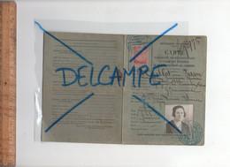 Carte D'identité Professionnelle à L'usage Des Voyageurs Représentants De Commerce 1920 Timbre 6F Dimension Mme CAILLOT - Other