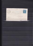 A55-FRANCE N°22 Sur Lettre OBL GC 1703 Indice 4 TB - 1853-1860 Napoléon III.