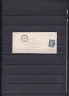 A56-FRANCE N°14 Type II Sur Lettre OBL PC AUXERRE TB - 1853-1860 Napoléon III.