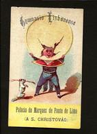 1870s Cartão Publicidade GYMNASIO LISBONENSE Palacio Do Marquez Ponte De Lima (A S.Christovão) LISBOA Portugal - Other