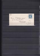 A68-FRANCE N°29 Sur Lettre OBL GC + OR TB - 1853-1860 Napoléon III.