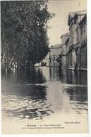 CPA  ORANGE  Inondation 1924, Le Cours Pourtoules Et Le Groupe Scolaire  N° 7 - Orange