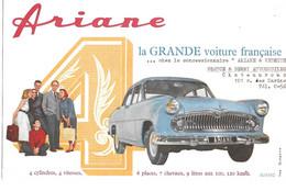 BERRY AUTOMOBILES CHATEAUROUX 101 RUE DES MARINS - ARIANE - SIMCA ARIANE - LA GRANDE VOITURE FRANCAISE - BUVARD - Auto's