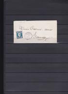 A75-FRANCE N°14  Sur Lettre OBL PC 1273 Indice 11 TTB - 1853-1860 Napoléon III.