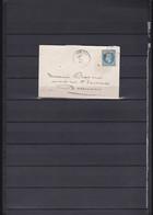 A76-FRANCE N°29  Sur Lettre OBL GC 3436 Indice 4 TB - 1853-1860 Napoléon III.