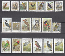 Zambia 1987,19V,in Set,birds,vogels,vögel,oiseaux,pajaros,uccelli,aves,MNH/Postfris(A397) - Zonder Classificatie
