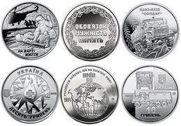 Ukraine, Soldiers 2019, 10 Gr Grivny,set Of 3 Coins - Oekraïne