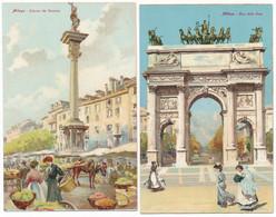 2c.772.  MILANO - Lotto Di 7 Cartoline Artistiche - Ediz. Scrocchi - Milano (Milan)