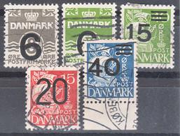 Denmark 1940 Mi#253-257 Used - Gebraucht