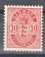 Denmark 1884 Mi#35 Mint Hinged - Ungebraucht