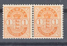Denmark 1901 Mi#37 Mint Never Hinged Pair - Ungebraucht