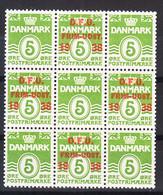 Denmark 1938 Mi#243 Mint Never Hinged Piece Of 9 - Gebraucht