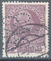 Austria 1908 Jubilee, Perfine Stamp - Usados