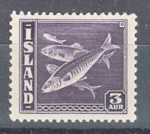 Iceland Island Ijsland 1939 Fish Mi#209 B Mint Never Hinged, Perforation 14 : 13 3/4 - Ungebraucht