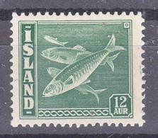 Iceland Island Ijsland 1943 Fish Mi#226 Mint Never Hinged - Ungebraucht