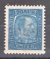 Iceland Island Ijsland 1902 Mi#41 Mint Hinged - Nuevos