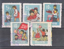 North Korea 1961 Children Mi#320-324 Used - Korea (Noord)