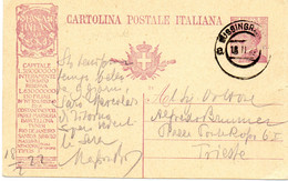 ITALIE.1922. 1 ENTIER POSTAL PUB. THEMES: CROIX-ROUGE. METIERS. - Red Cross