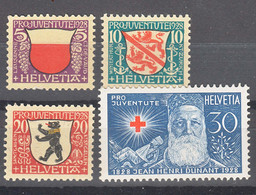 Switzerland 1928 Pro Juventute Mi#229-232 Mint Never Hinged - Unused Stamps