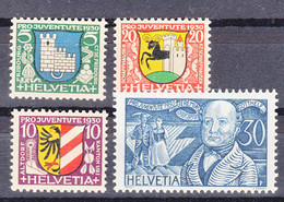 Switzerland 1930 Pro Juventute Mi#241-244 Mint Never Hinged - Unused Stamps