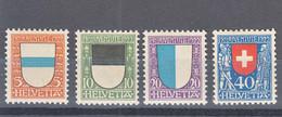 Switzerland 1922 Pro Juventute Mi#175-178 Mint Never Hinged - Unused Stamps