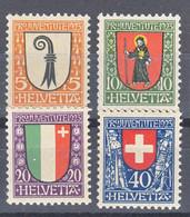 Switzerland 1923 Pro Juventute Mi#185-188 Mint Never Hinged - Nuevos