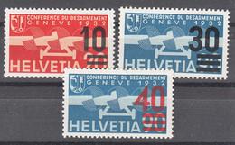 Switzerland 1936 Airmail Mi#291-293 Mint Never Hinged - Nuevos