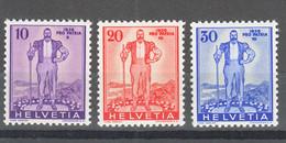 Switzerland 1936 Pro Patria Mi#294-296 Mint Never Hinged - Nuevos