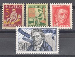 Switzerland 1937 Pro Juventute Mi#222-225 Mint Never Hinged - Nuevos
