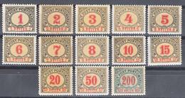Austria Feldpost Occupation Of Bosnia 1904 Porto Mi#1-13 Mint Hinged - Unused Stamps