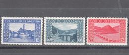 Austria Occupation Of Bosnia 1912 Mi#61-63 Mint Hinged - Ungebraucht