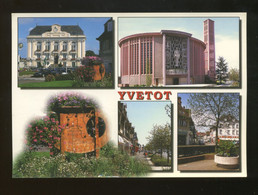 Yvetot (76) : L'Hotel De Ville, L'église St Pierre, Le Mail - Yvetot
