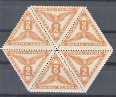 Fiume 1919 Newspaper Stamps, Giornali, Sassone#4 Michel#49 II Mint Never Hinged Full Minisheet - Fiume
