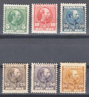 Denmark 1904 King Christian Mi#47-52 Mint Hinged - Ungebraucht