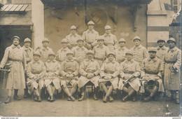Carte-Photo  - Portrait Groupe De Militaires - Artilleurs N°85 - Clairon Et Trompette - (BP) - Guerra, Militares