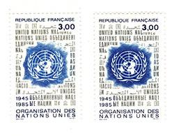 ONU YT 2374 Bleu Très Clair Et Foncé . Superbe , Voir Le Scan . Cotes Maury N° 2378 + 2378a : 1.30 € + 5 € = 6.30 € . - Varietà: 1980-89 Nuovi