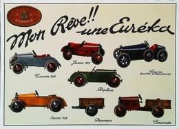 ► Carte Postale Publicité - Voiture à Pédales EUREKA  Jouet Automobile Pedal  Car Toy  - Reproduction - Pubblicitari
