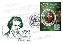 """Stamps Ukraine (lokal) 2020.- FDC """"Ludwig Van Beethoven. 250 Years Old» - Ukraine"""