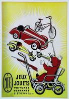 ► Carte Postale Publicité - Voiture à Pédales M.F.A. Saint Etienne (Loire) Jouet Automobile Pedal Car Toy - Reproduction - Pubblicitari