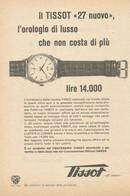 # TISSOT LE LOCLE HORLOGERIE SUISSE 1950s Italy Advert Publicitè Reklame Orologio Montre Uhr Reloj Relojo Watch - Orologi Pubblicitari