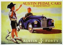 ► Carte Postale Publicité - Voiture Austin Pedal Car - Voiture à Pédales   - Reproduction - Pubblicitari
