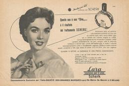 # LARA SCHERK LOZIONE VISO 1950s Advert Pubblicità Publicitè Reklame Perfume Parfum Profumo Surf - Non Classificati