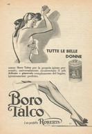# BOROTALCO MANETTI & ROBERTS Florence 1950s Advert Pubblicità Publicitè Reklame Firenze Talc Talcum Powder Cosmetics - Non Classificati