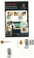 TEMA POLICIAL.  Tarjeta Prefranqueada MUY POCOS EJEMPLARES  (VER IMAGEN) Exposición Filatélica Policial EXFIVAL 2017 - 1931-....