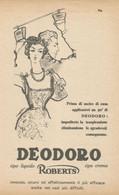 # DEODORO MANETTI & ROBERTS Florence 1950s Advert Pubblicità Publicitè Reklame Firenze Deodorant Desodorant Cosmetics - Non Classificati