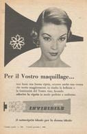 # CREMA NIVEA SOTTOCIPRIA1950s Advert Pubblicità Publicitè Reklame Moisturizing Cream Creme Hydratante Protector - Non Classificati