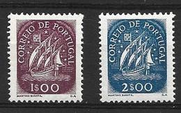 1948 - 1949 PORTUGAL 1 E., 2 E. DEFINITIVES MICHEL: 726, 728 MNH ** / MLH * - Nuevos