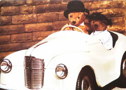 ► Carte Postale Publicité - Voiture Austin J40 Pedal Teddy Bear Car 1950s - Voiture à Pédales   - Reproduction - Pubblicitari